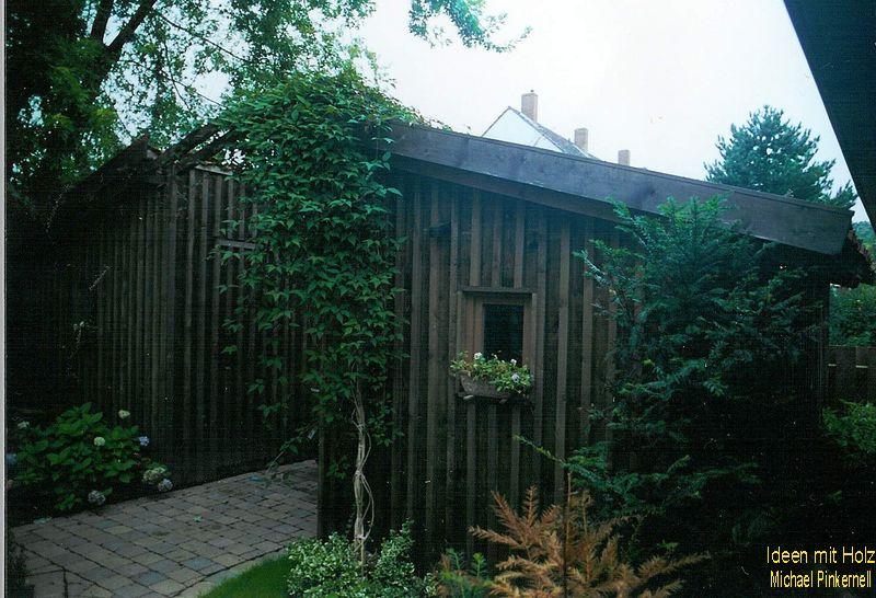 Aneinandergesetzte Gartenhäuser