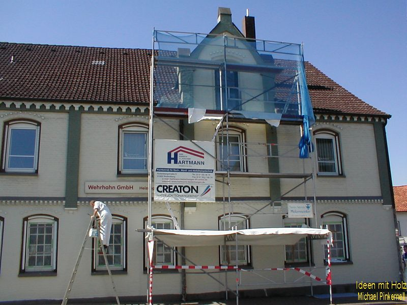 Dachgeschoß als Wohnraum mit Dachterrasse (Loggia)