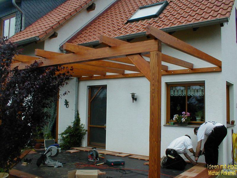Terrassenüberdachung mit Zugang über die Küche