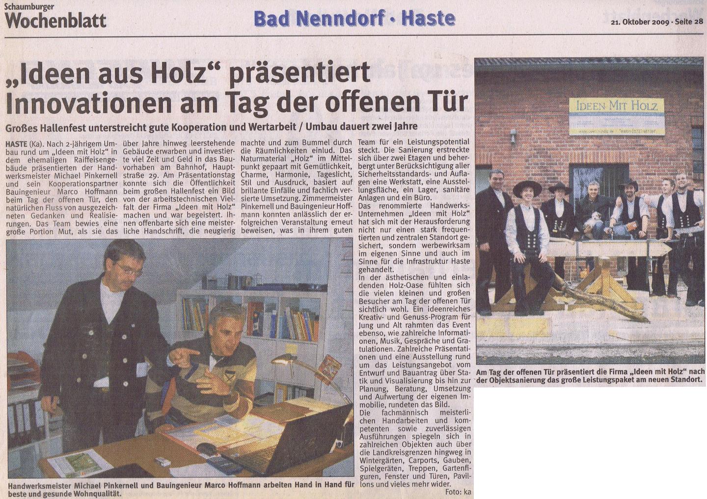 Bericht Hauptstr. 29 IMH 10-2009 Wochenblatt