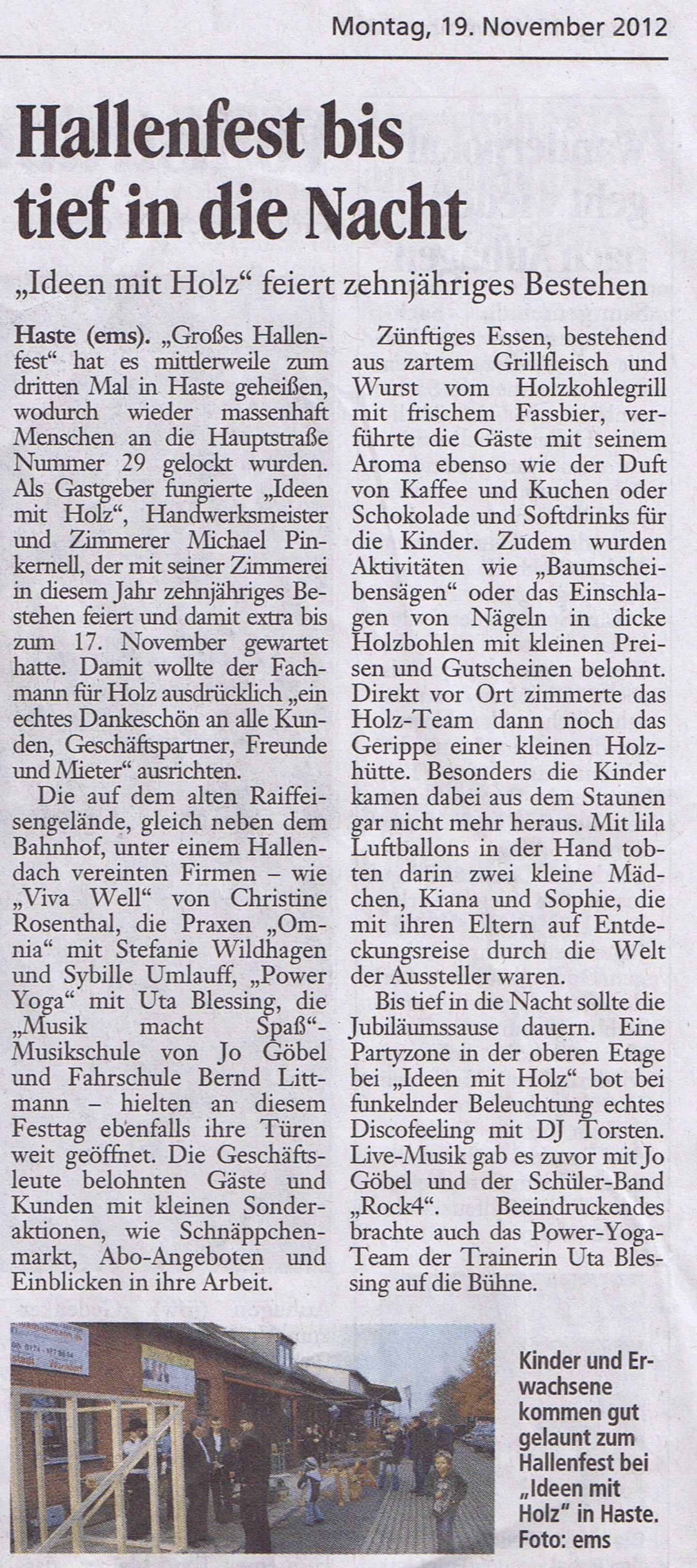 Hallenfest zehnjähriges Bestehen 11-2012 S.N.