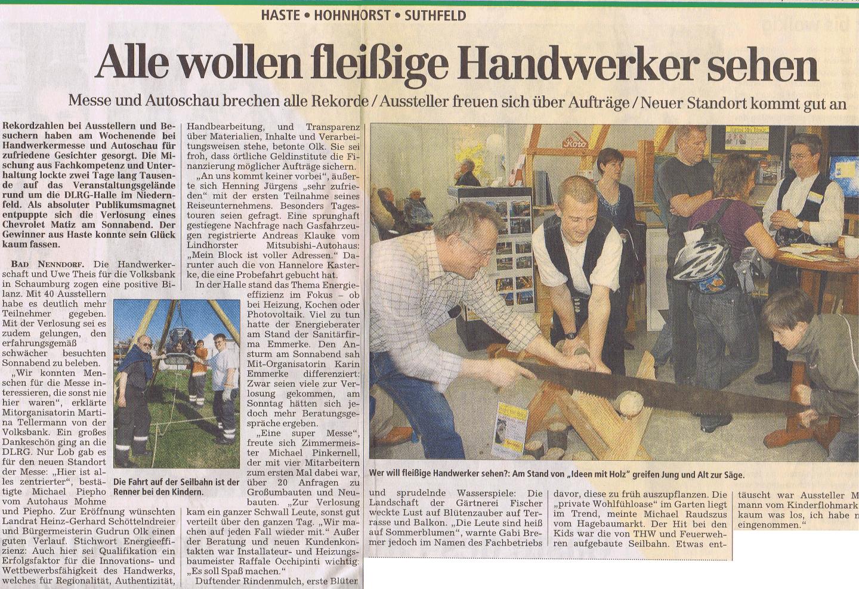 Handwerkermesse Bad Nenndorf 2010