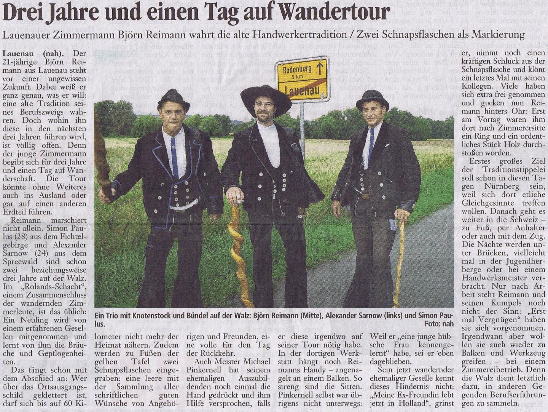 Start Wandertour B. Reimann 2010