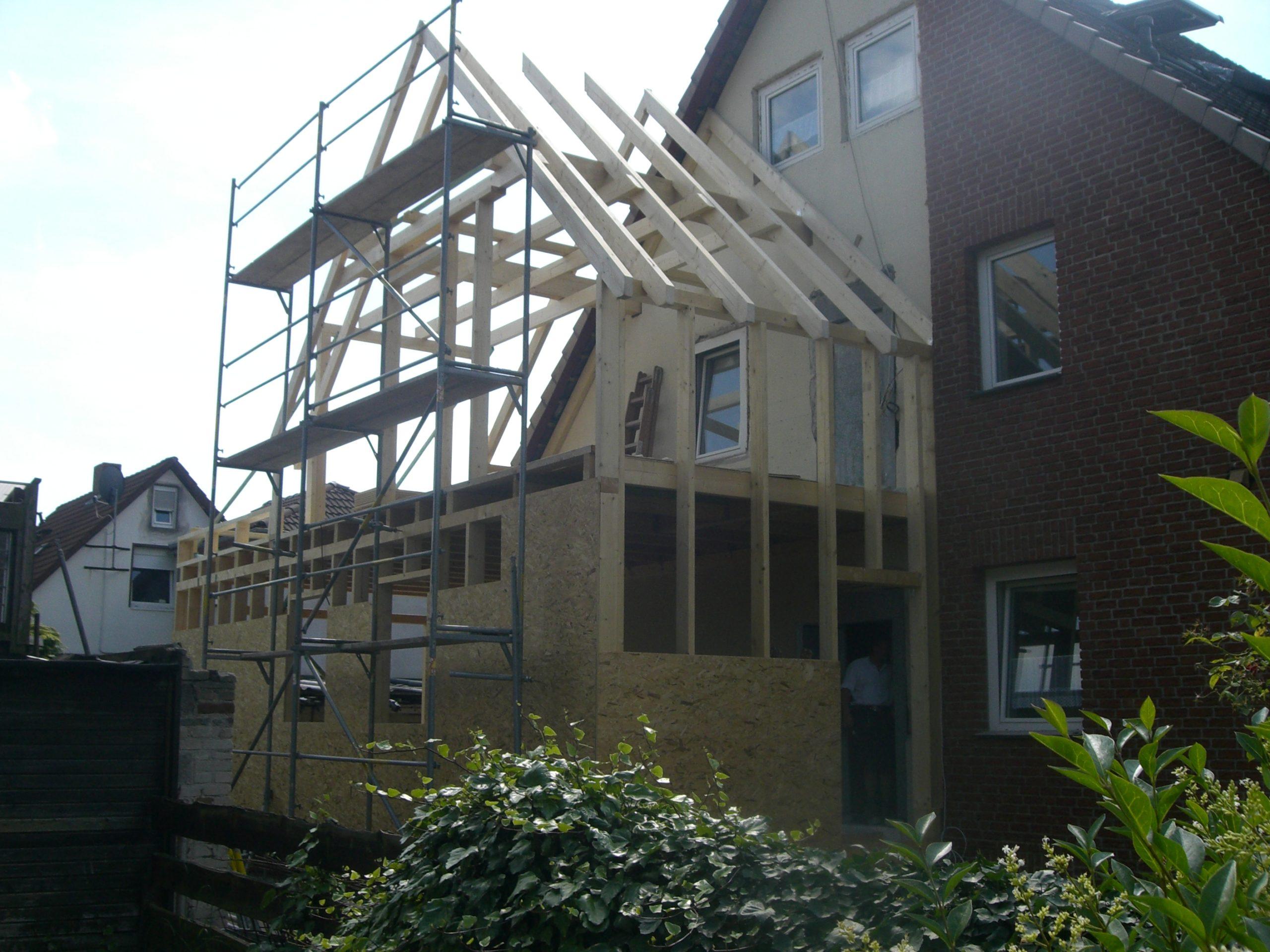 Meisterleistung Wohnraumerweiterung  auf Stahlträgern