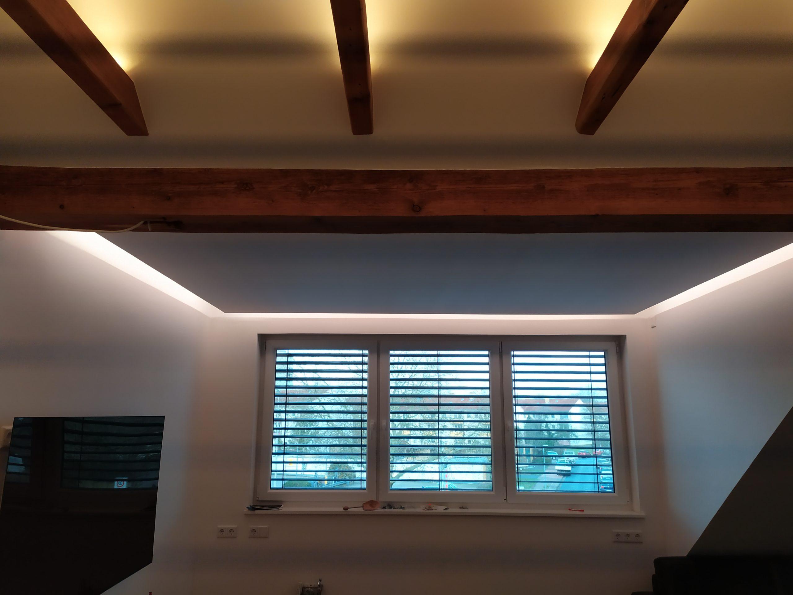 Rigips Decken mit LED