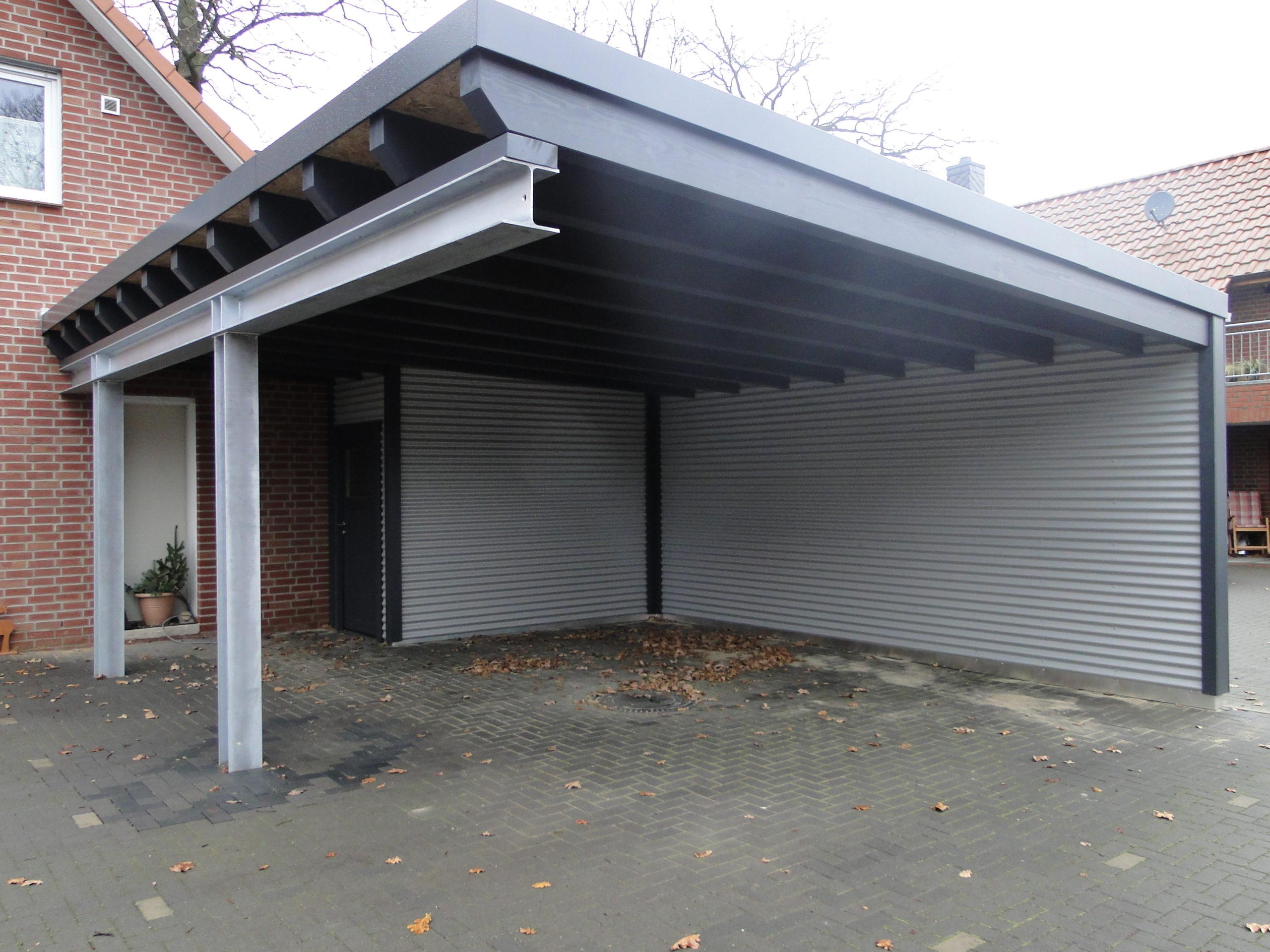 Carport Stahl / Holz